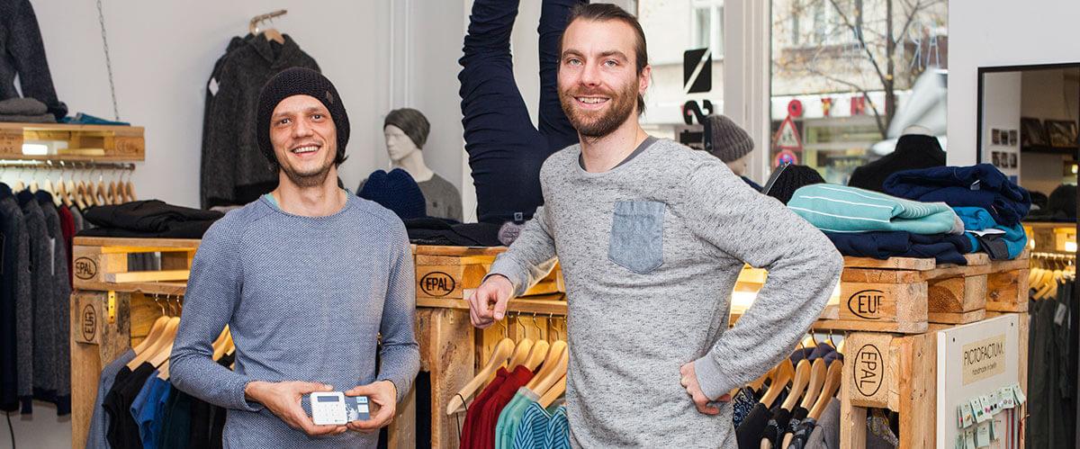 SumUp Merchant - Moritz Biel & André Hofmann - Stoffbruch, Créateurs mode Streetwear