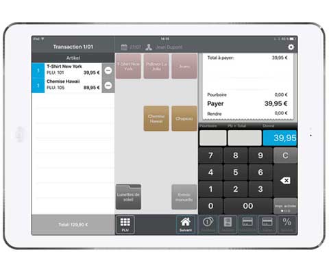 Point of Sale system iPad