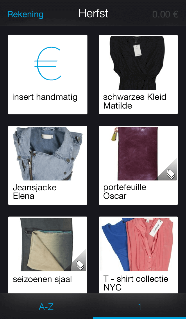 App screen - Store